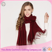 2017 new design solid color thick big tassel scarf for winter