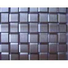 'Tile' Type Decorative Metal Fabric,Flat Wire Square Woven