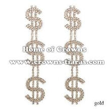 Crystal Rhinestone Big Fashion Earrings