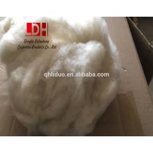 21 mic best lana de oveja cruda respetuoso del medio ambiente natural fibras de cachemira blanca para hilado de suéter