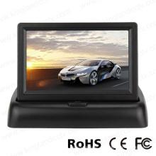 4.3inch faltbares TFT LCD Anzeigen-Auto, das hinteren Ansicht-Monitor umkehrt