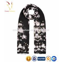 Падение OEM печать шарф 70 Пашмина 30 шелк