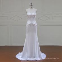 XFM035 especial crepe baratos vestidos de noiva de pérolas 2017