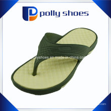 Slide cinza marrom na sandália de tanga flip flop