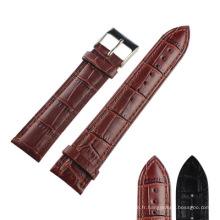 Bracelet en cuir de grain de bambou P19z