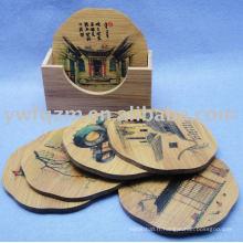 conception de la coutume petit coaster coupe en bambou