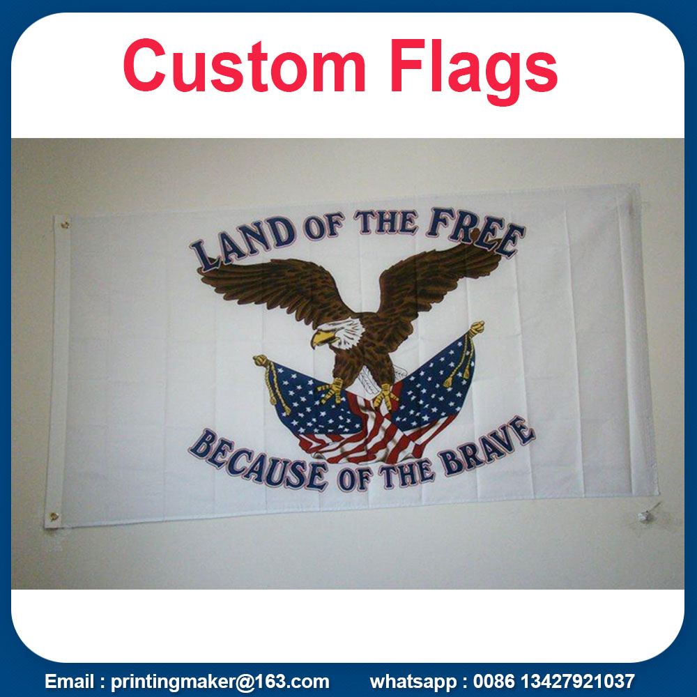 business printed flags