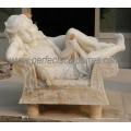 Escultura da estátua de mármore da pedra da escultura para a decoração do jardim (SY-X1183)