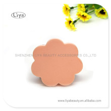 Caliente venta flor forma hojaldre esponja comprimida Facial esponja base esponja