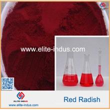Couleur de radis rouge de couleur naturelle