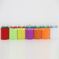 Collapsbile neoprene soda can cooler sleeve multicolor