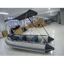 Barco de pesca inflável com pára-sol