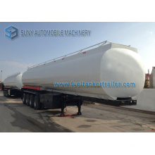 56000 Liters, 56000 Kg, 56 Ton 4 Axle Fuel Tank Semi Trailer / Stainless Steel Petroleum Tanker Trailer