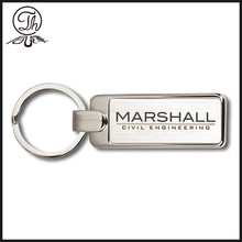 Laser custom logo metal keychain personalized