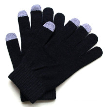 Men′s Fashion Cashmere Knitted Touch Screen Warm Gloves (YKY5460)