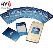 Customzied logo mobile phone microfiber cloth sticky screen cleaner