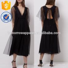 Новая мода черный тюль Миди повседневные костюмы Производство Оптовая Женская мода одежды (TA5215D)