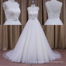 China Weddignd Ress Hochzeitskleid Organza Blumenrock