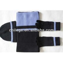 men's winter cashmere scarfs,gloves & hats set