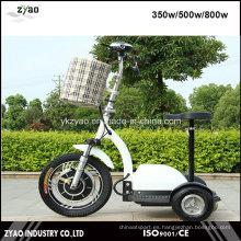 36V / 48V 500W Scooter eléctrico de la movilidad 3 ruedas