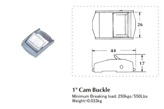 25MM cam buckle