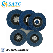 Top Quality cheap 4.5'' vsm zirconia cloth flap disc with good price About