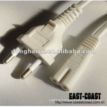 White 2Pins Power Cable