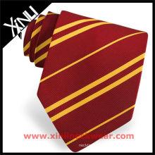 Cravate homme jaune rouge à rayures