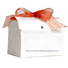 Caja de papel redonda de embalaje personalizado con cinta