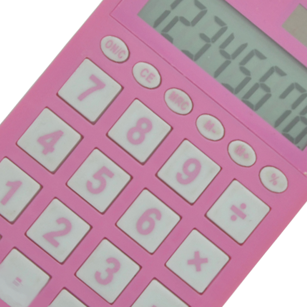 8 chiffres Pink School Pocket Calculator