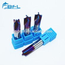 Высокоскоростные режущие инструменты BFL Твердосплавные 4 канавочные фрезы для закругления углов