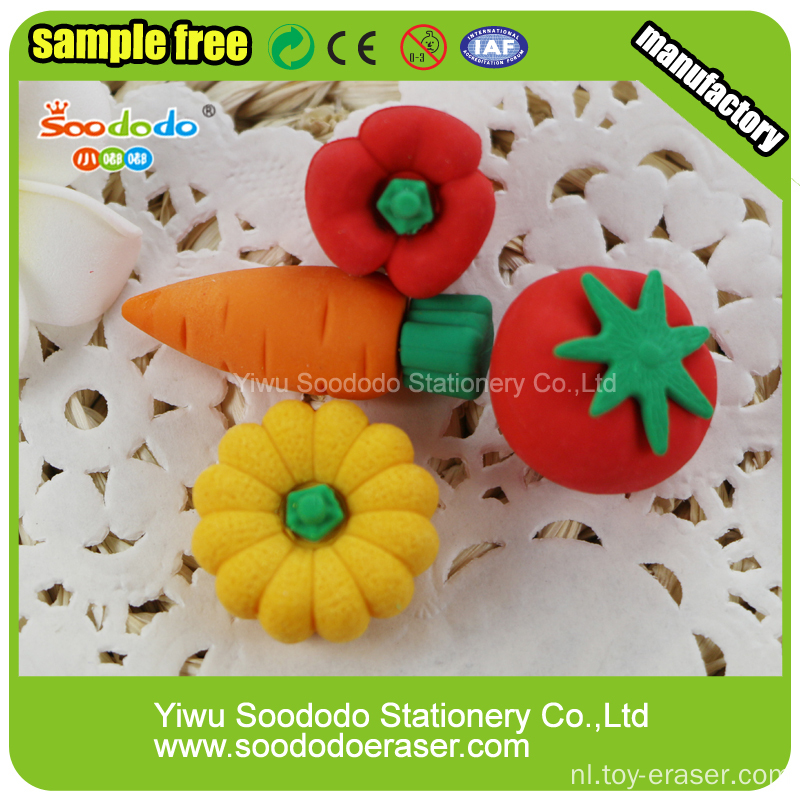 3D Strawberry Cup Cake Shaped Eraser