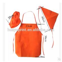 Kinderschürze gemacht, Kindergarten Hotel Einweg-Vlies-Anzug Schürze, wasserdichtes Antiöl kann gedruckt werden LOGO