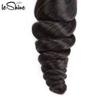 Long Lasting 9A Relaxed Loose Wave 18 Inch Brazilian Hair Bundle With Closure Cuticle Aligned