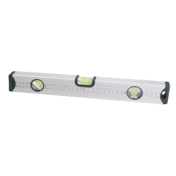 LED Aluminium Level with 3 Acrylic Vials