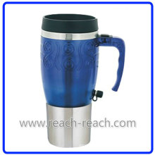 12V Auto Mug, Car Mug, Electric Mug with USB (R-E006)