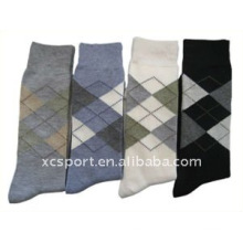 2014 New Factory Price Custom OEM ODM Good Quality Colorful Sublimated Spandex Soft Anti Bacterial Breathable Stripes Men Socks