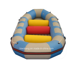Água de PVC colorido transportando voar barco inflável com Airpillow