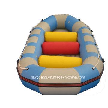 Rafting de l'eau en PVC coloré voler un bateau gonflable avec Airpillow