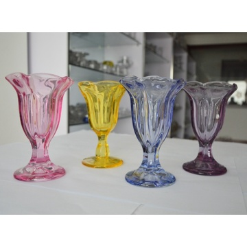 Flor forma vaso transparente Ice Cream
