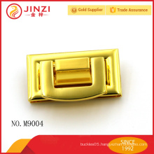 Shiny gold color fashion metal bag lock