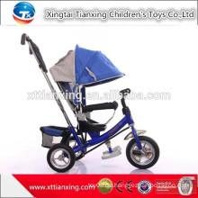 Art und Weise drei Rad-preiswertes Kind-Dreirad-Spielzeug mit Dach / Fabrik Großverkauf viele Farben Dreirad für 1 2 3 4Years alt