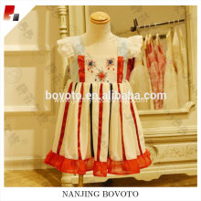Summer chiffon dress firecracker embroideried