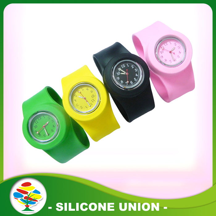 silicone slap watch bracelet