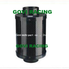 Elemento de filtro de aire de carbono real con 76mm Mororcycle Filtro de aire universal