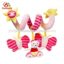stuffed warm baby toy, soft rattle toy for baby
