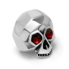 Призрак Мужчины Череп Кольца Из Нержавеющей Ювелирные Изделия Красный Циркон Глаза