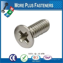 Made in TaiwanDIN 965 Phillips Flat Countersunk Head Machine Screw Stainless Steel Cross Recessed Countersunk Head Screw