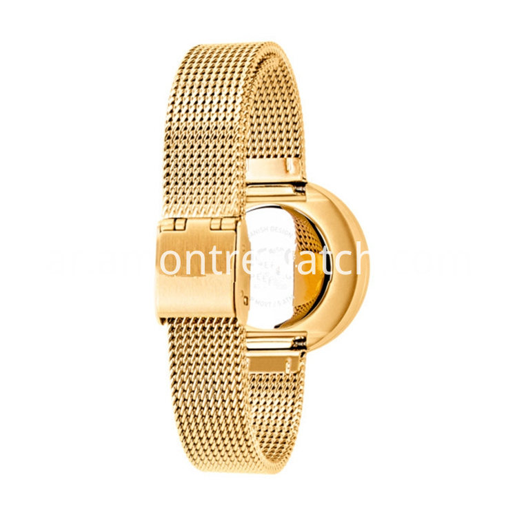 china gold mesh watch