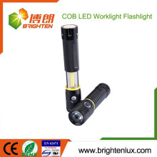 Factory Wholesale High Power Portable Aluminum Metal 3*AAA Battery Powered New Cree XPE R3 Cob led Flashlight With Magnet Base